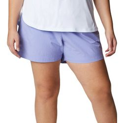 Columbia Womens Solid Mid Length Solid Shorts