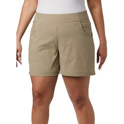Columbia Womens Solid Pull On Shorts