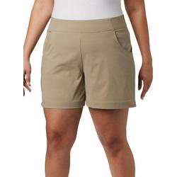 Womens Solid Pull On Shorts