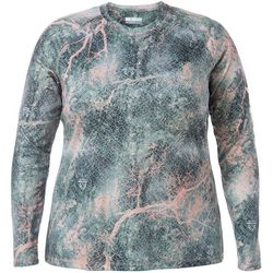 Columbia Plus PFG Super Tidal Coral Print Long Sleeve Tee