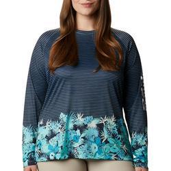 Plus PFG Stripe & Flower Shirt
