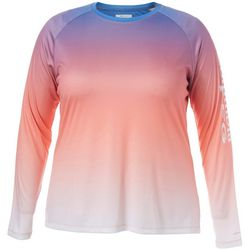Columbia Plus PFG Super Tidal Ombre Long Sleeve Tee