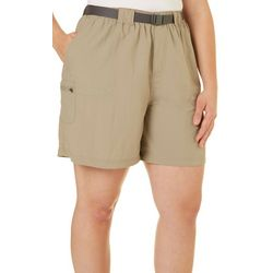 Plus Belted Sandy River Shorts