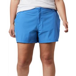 Columbia Womens Solid Shorts With Snap Closure
