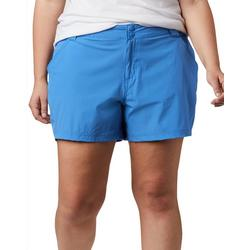 Womens Solid Shorts With Snap Closure