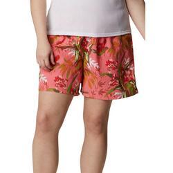 Womens Printed Loose Shorts