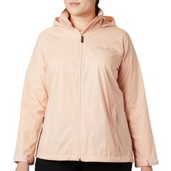Plus Bamboo Debossed Switchback III Rain Jacket
