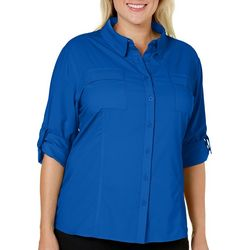 Reel Legends Plus Freewater Button Front Shirt