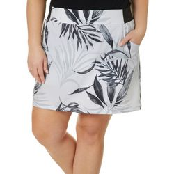 Plus Adventure Elegant Palms Pull On Skort