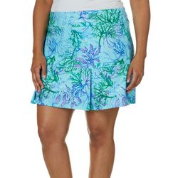 Reel Legends Plus Keep It Cool Coral Paradise Skort