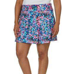 Reel Legends Plus Keep It Cool Triangular Burst Skort