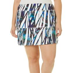 Reel Legends Plus Keep It Cool Butterfly Cage Print Skort