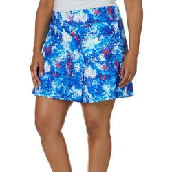 06a4914c7c6 Reel Legends Plus Keep It Cool Organic Splatter Skort