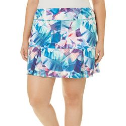 Reel Legends Plus Keep It Cool X-Ray Palms Skort