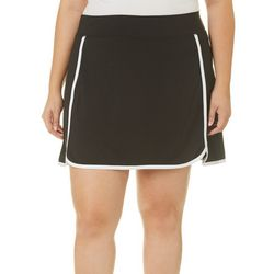 Reel Legends Plus Keep It Cool Solid Contrast Trim Skort