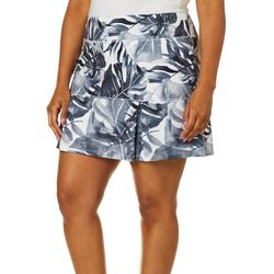Reel Legends Plus Keep It Cool Oversized Palms Skort