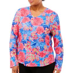 Reel Legends Plus Freeline Multi Floral Top