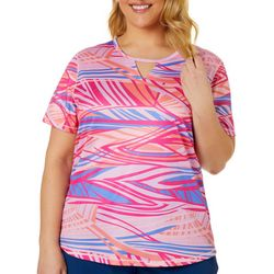 Plus Freeline Abstract Water Shimmer Top
