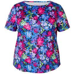 Reel Legends Plus Freeline Nirvana Floral Shimmer Top