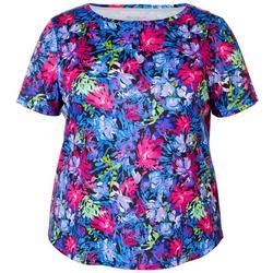 Plus Freeline Nirvana Floral Shimmer Top