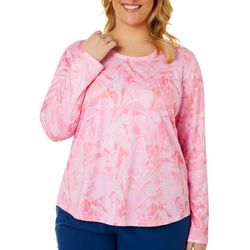 Plus Freeline Marble Splash Long Sleeve Top