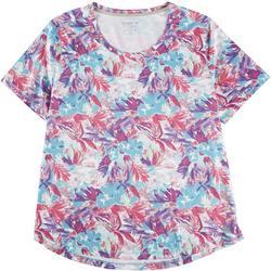 Plus Freeline Moving Floral Shimmer Top