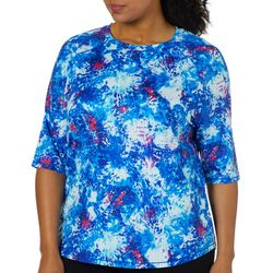 Reel Legends Plus Keep It Cool Organic Splatter Swim Shirt