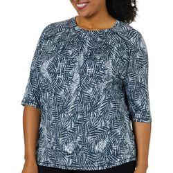 Reel Legends Plus Keep It Cool Textured Palm Swim Shirt