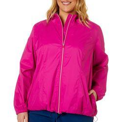 Plus Solid Waterproof Windbreaker Jacket