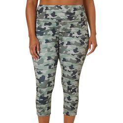 Reel Legends Plus Keep It Cool Camouflage Crop Leggings