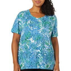 Reel Legends Plus Airy Palms Burnout T-Shirt