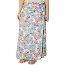 Reel Legends Plus Watercolor Palms Convertible Skirt