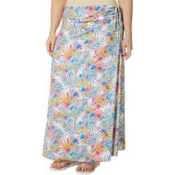 Plus Watercolor Palms Convertible Skirt
