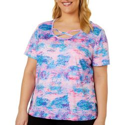 Reel Legends Plus Reel-Tec Dotted Energy Print Top