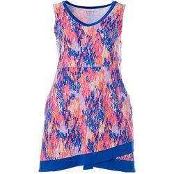 Plus Keep It Cool Graphic Faux Wrap Dress