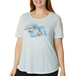 Reel Legends Plus Seashell Graphic T-Shirt