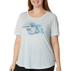 Plus Seashell Graphic T-Shirt