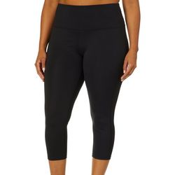 Reel Legends Plus Keep It Cool Solid Crop Leggings