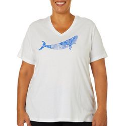 Reel Legends Plus Sketched Whale T-Shirt