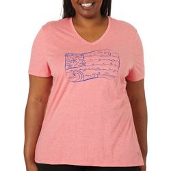 Reel Legends Plus Beach Flag T-Shirt
