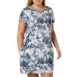 Reel Legends Plus Keep It Cool X-Ray Palms Dress
