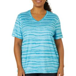 Plus Reel-Tec Monument Stripes Print Top
