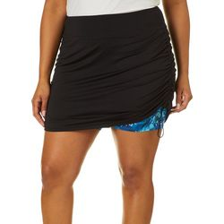 Plus Keep It Cool Misty Palms Skort