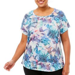 Reel Legends Plus Tropical Leaves Burnout Top