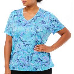 Reel Legends Plus Reel-Tec Baja Palm Short Sleeve Top