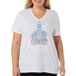 Reel Legends Plus Sketched Lighthouse T-Shirt