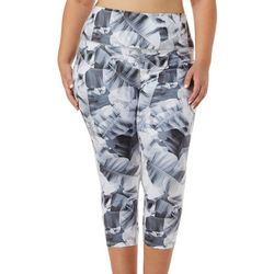 Reel Legends Plus Elite Comfort X-Ray Palms Crop Leggings