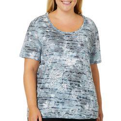 Reel Legends Plus Paisley Burnout T-Shirt