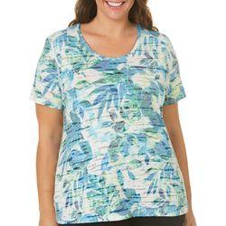 Reel Legends Plus Reel Fresh Painterly Leaf Burnout T-Shirt
