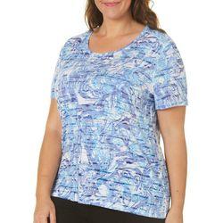 Reel Legends Plus Reel Fresh Agate Texture Burnout T-Shirt